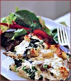 Fast & Easy Dinner: Artichoke-Heart, Spinach, and Mozzarella Bread Pudding