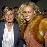 Ellen DeGeneres and Portia de Rossi in 2004