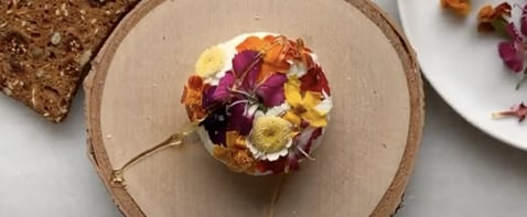How to Make Edible Flower Goat Cheese