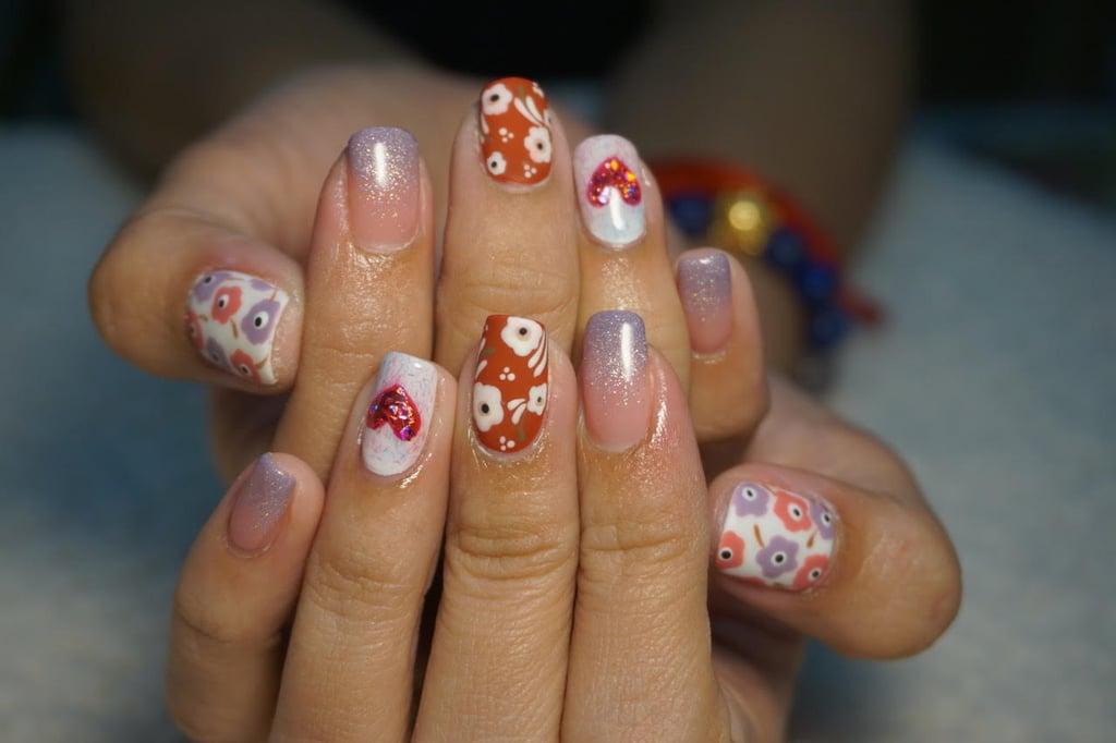 Nail Art Trend in Thailand: Flower Nail Art