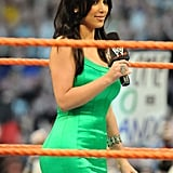 She was on hand for a WrestleMania event in Orlando, FL, back in March 2008.