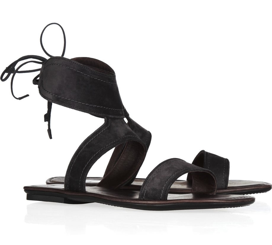 Every girl needs a pair of wear-with-anything flat sandals — this laced-back pair are a perfect match for the warmer months. Calvin Klein Collection Luisa Suede Sandals ($154, originally $385)