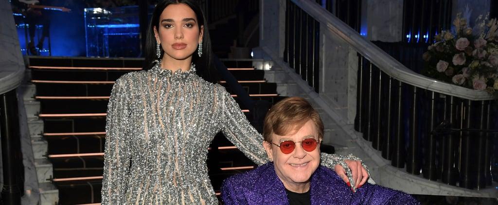 Dua Lipa and Elton John Duet at EJAF Oscars Preparty | 2021
