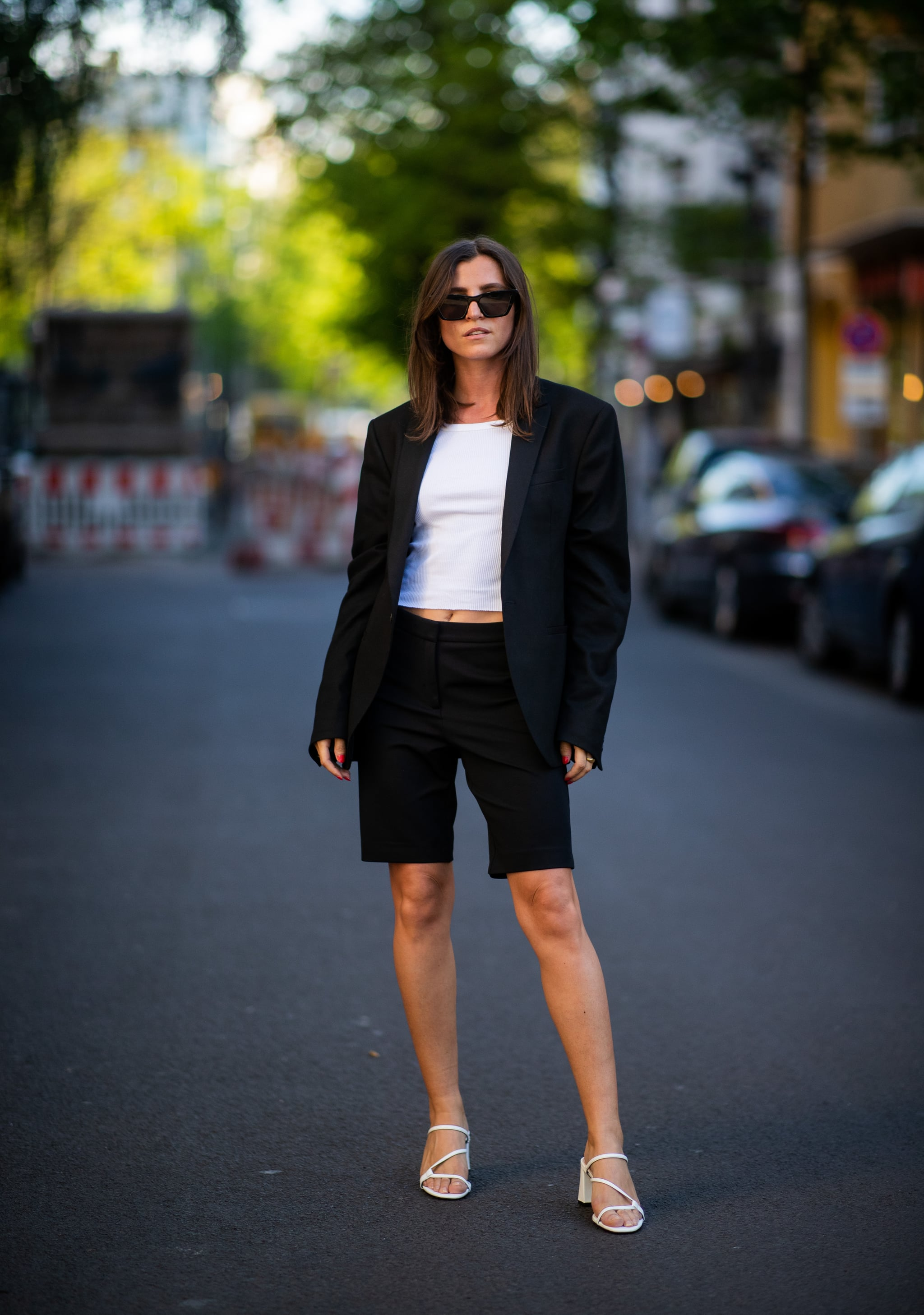 How to Wear a Blazer and Shorts | POPSUGAR Fashion