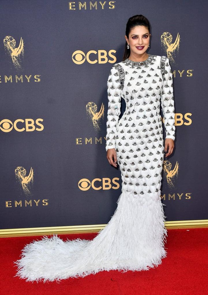 Priyanka Chopra's Balmain Dress at 2017 Emmys