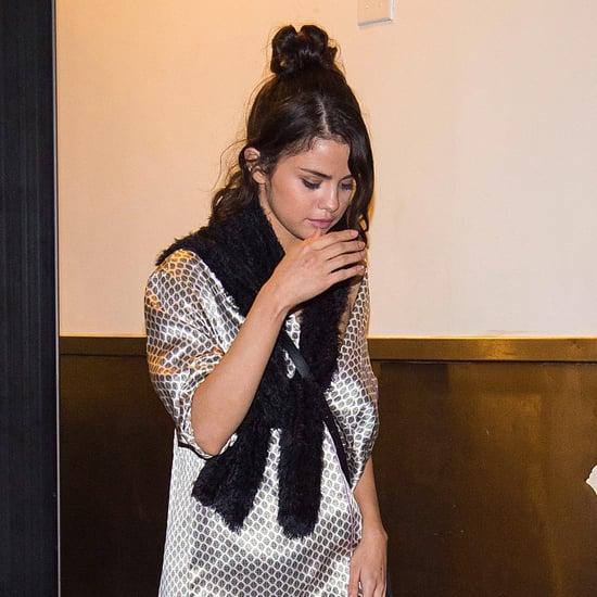 Selena Gomez's Olivia von Halle Pajama Dress