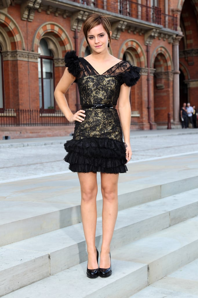 Pictures of Emma Watson in Rafael Lopez Dress at the Photocall for Harry Potter and the Deathly Hallows in London