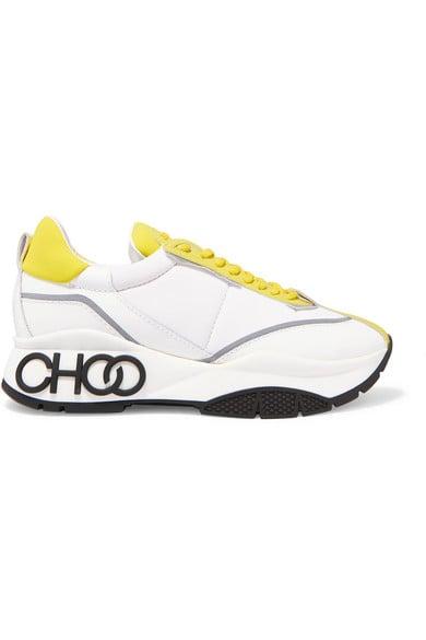 Jimmy Choo Raine Leather and Neoprene Sneakers