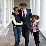 When Barack continuously proved he could be a great president and father at the same time.