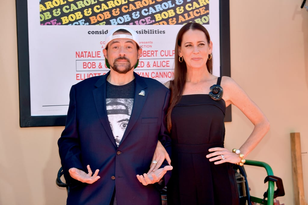 Kevin Smith and Jennifer Schwalbach Smith at the Once Upon a Time in Hollywood LA premiere.