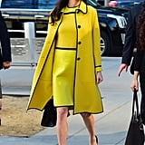Amal Clooney's Yellow Bottega Veneta Dress March 2017