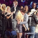 The couple embraced in the audience at Nashville's CMT Music Awards in 2012.