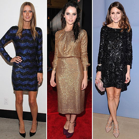 Celebrities Wearing Sequins December 2011