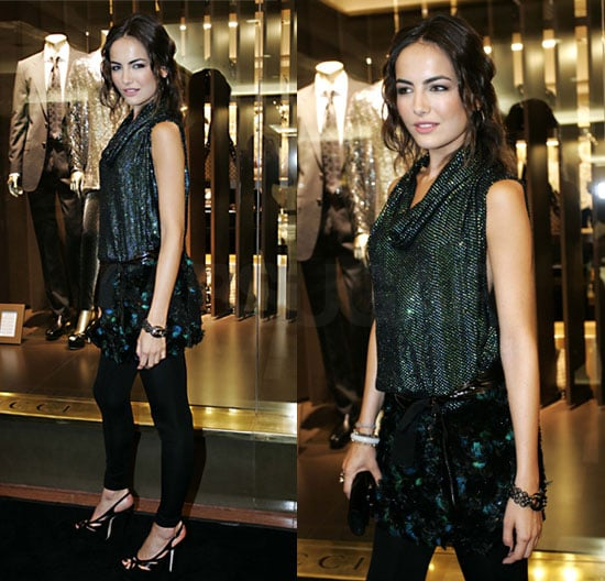 Actress Camilla Belle in Sparkly Gucci at the Opening Store In Sao Paulo, Brazil