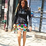 Caitlyn Jenner Wearing Printed Dresses in NYC