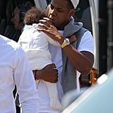 Jay-Z returned home with Blue Carter.