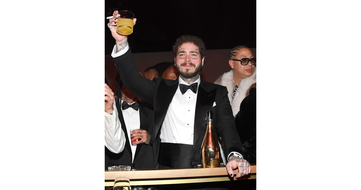 Post Malone At Diddy's 50th Birthday Party