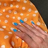 Hailey Baldwin's Sky-Blue Nail Polish