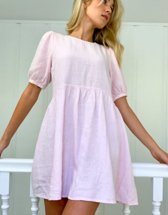 Glassons Linen Blend Puff Sleeve Dress ($49.99)