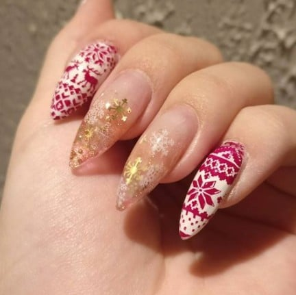 Ugly Sweater Holiday Nail Art