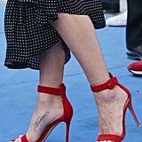 Jen's Gianvito Rossi Portofino sandals are shoppable for $615!