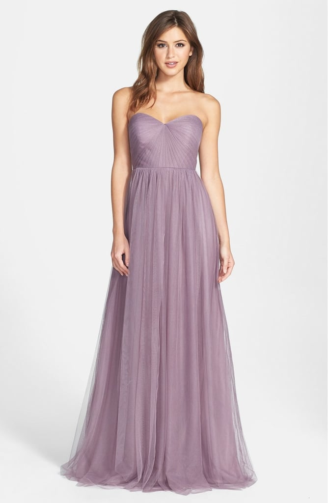Jenny Yoo Women's 'Annabelle' Convertible Tulle Column Dress ($260)