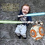 """""""The force is strong with this one. #30weeks"""""""