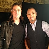 World War Z star Brad Pitt got interviewed by Terrence J. Source: Twitter user TerrenceJ