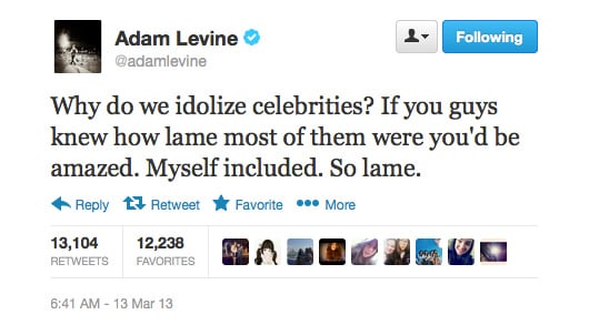 Adam Levine does some celebrity myth-busting.