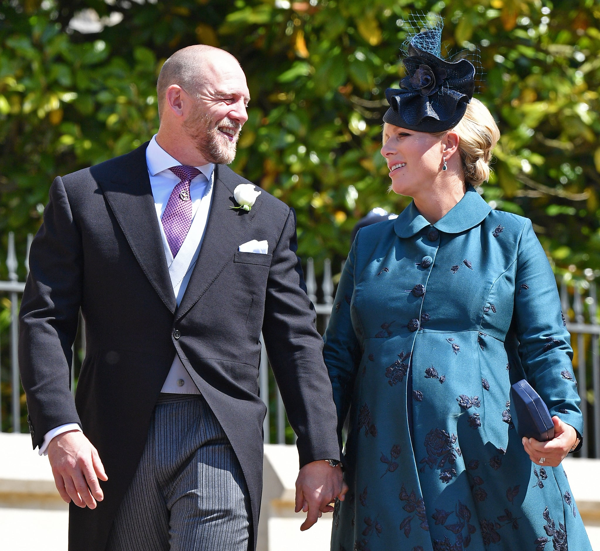 WINDSOR, UNITED KINGDOM - MAY 19: (EMBARGOED FOR PUBLICATION IN UK NEWSPAPERS UNTIL 24 HOURS AFTER CREATE DATE AND TIME) Mike Tindall and Zara Tindall attend the wedding of Prince Harry to Ms Meghan Markle at St George's Chapel, Windsor Castle on May 19, 2018 in Windsor, England. Prince Henry Charles Albert David of Wales marries Ms. Meghan Markle in a service at St George's Chapel inside the grounds of Windsor Castle. Among the guests were 2200 members of the public, the royal family and Ms. Markle's Mother Doria Ragland. (Photo by Pool/Max Mumby/Getty Images)