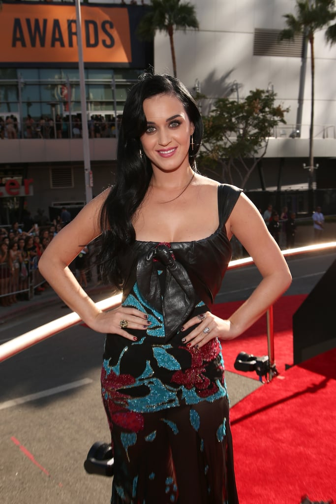 Katy Perry posed in Elie Saab.