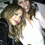 Jennifer Lopez headed to her show at the Hollywood Bowl with her sister, Linda. Source: Twiiter user JLo