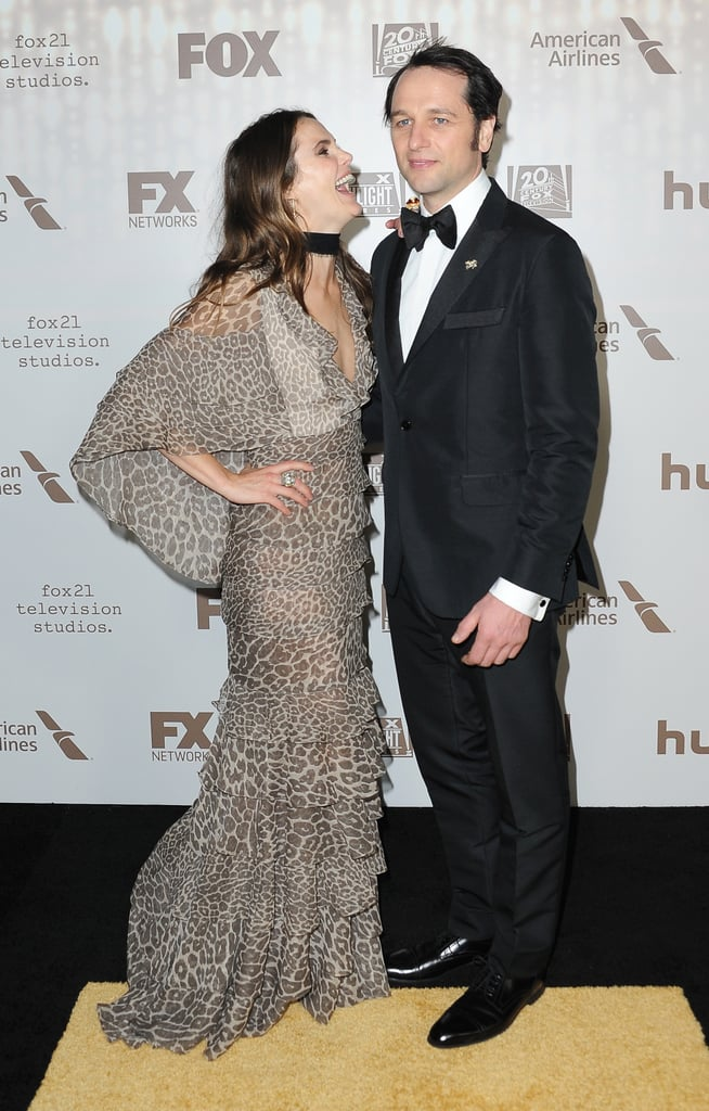 After flaunting their romance at the Golden Globe Awards, Keri Russell and Matthew Rhys let loose at Fox and FX's afterparty in Beverly Hills on Sunday. The couple flashed sweet smiles for photographers and stuck by each other's sides upon their arrival. Keri and Matthew were one of the many couples at the ceremony tonight. While their show, The Americans, didn't take home any awards, they still looked like they had a whole lot of fun.        Related:                                                                                                           Who Is the Cutest Couple at the Golden Globe Awards?