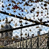 The Pont des Arts bridge was covered in love locks.