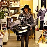 Jessica Alba carrying Haven in LA.