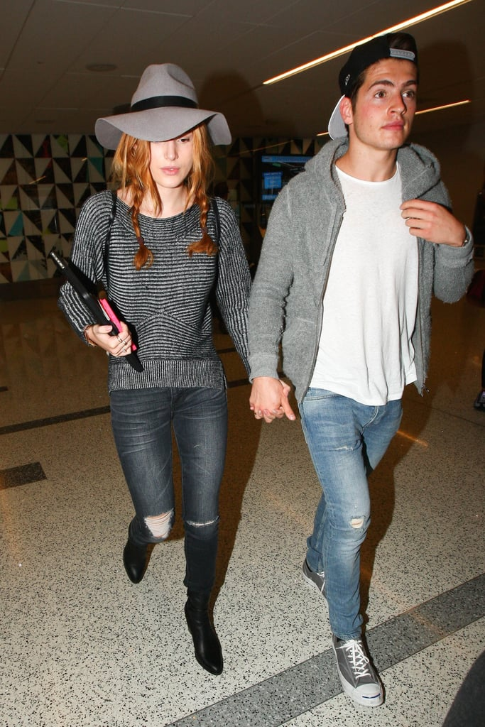 Bella Thorne and Gregg Sulkin Show Airport PDA