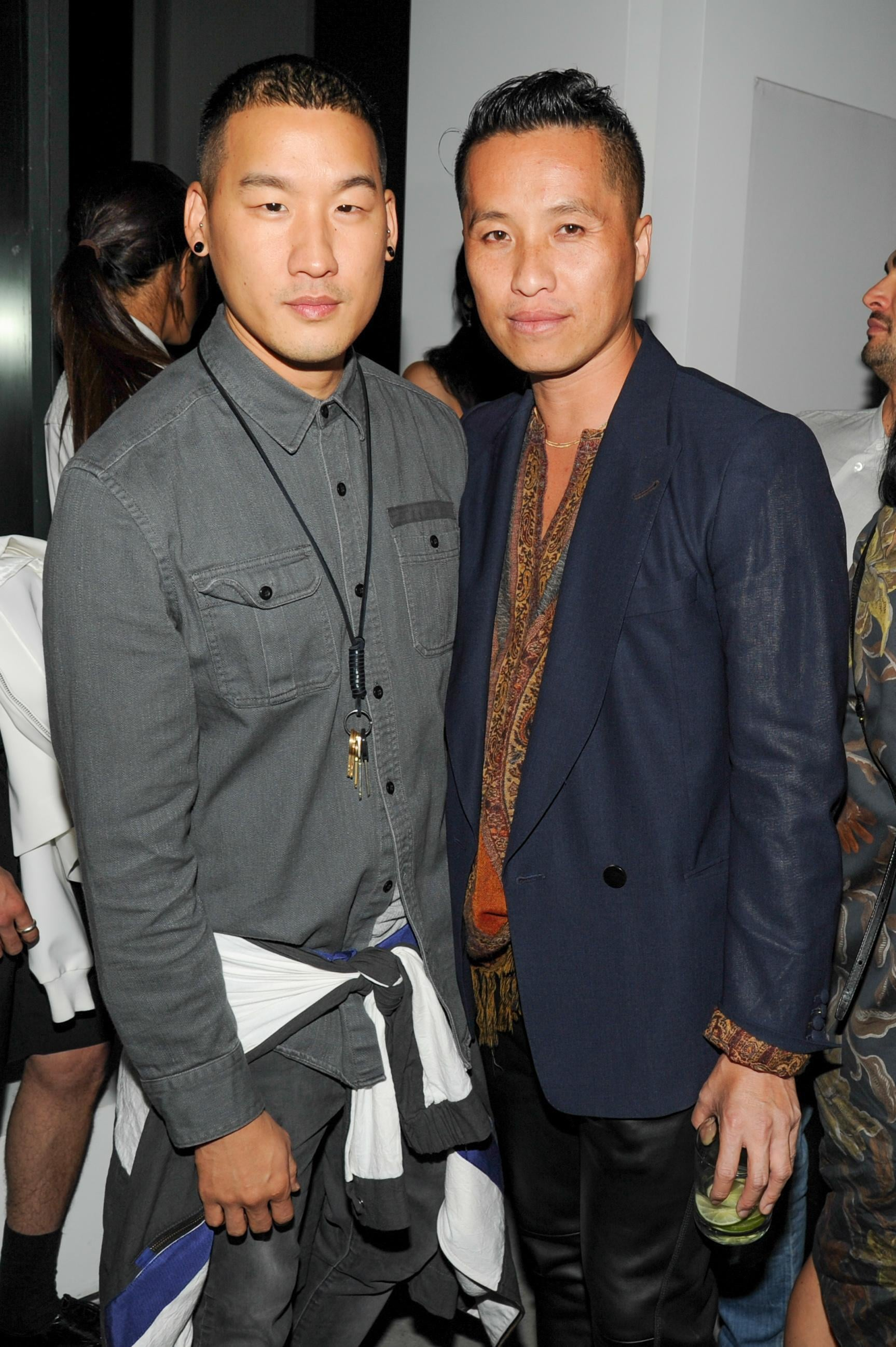 Richard Chai, at left, came out to support his fellow designer Phillip Lim.