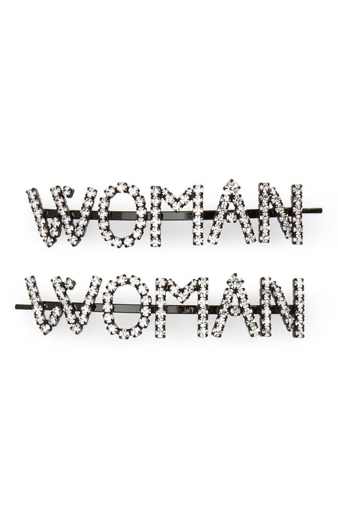 Ashley Williams Woman Set of 2 Crystal Hair Pins