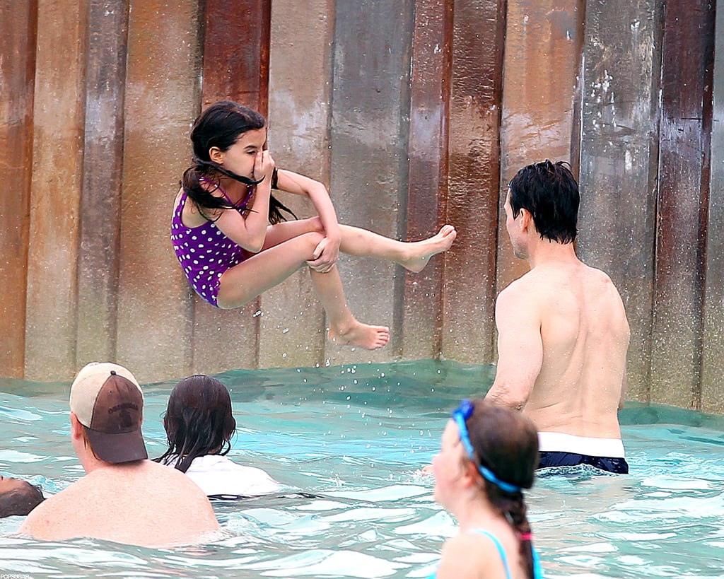 Suri Cruise and Tom Cruise played in Orlando.