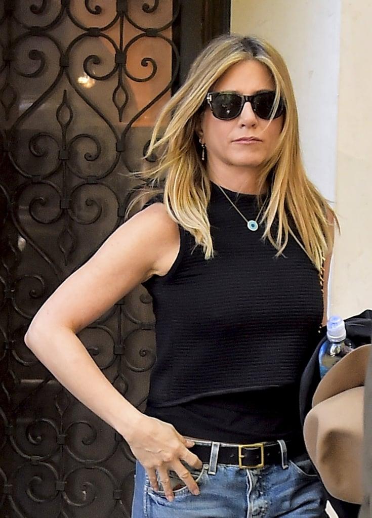 Jennifer Aniston's Evil-Eye Necklace in New York Sept ...