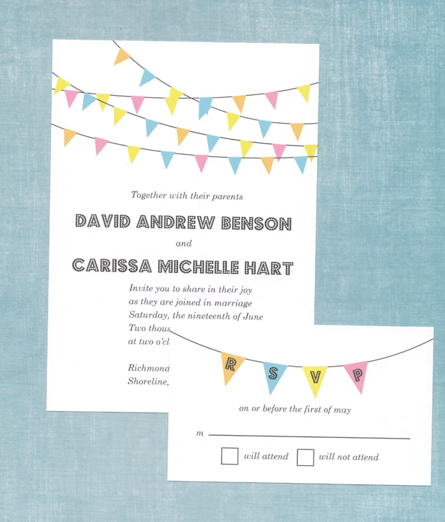 Bunting Banner Wedding Invitation Free Printable Wedding