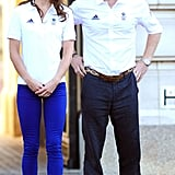The Duchess of Cambridge and her brother-in-law, Prince Harry, kept close at Buckingham Palace.