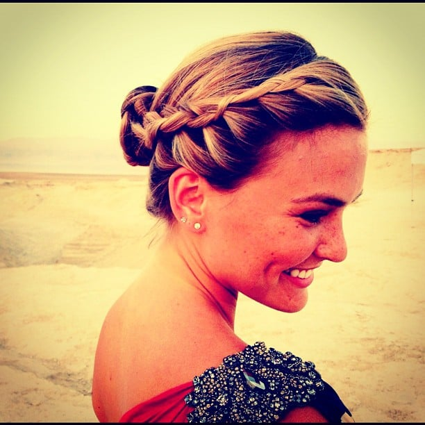 Bar Refaeli wore a beautiful braid.