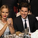 Cute couple Emily Blunt and John Krasinski were all smiles during the Critics' Choice Awards.