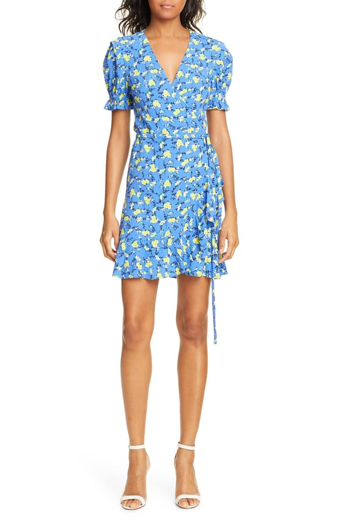 DVF Emilia Floral Short-Sleeve Wrap Dress