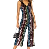 LPA Double V Jumpsuit in Multi Sequin