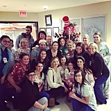 Jennifer Lawrence Visiting a Hospital on Christmas Eve 2014