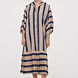 H&M Striped Button-front Kaftan