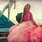 Taylor's Pink Monica Ivena Starbie Skirt and Amorphose Silk Ruffled Top