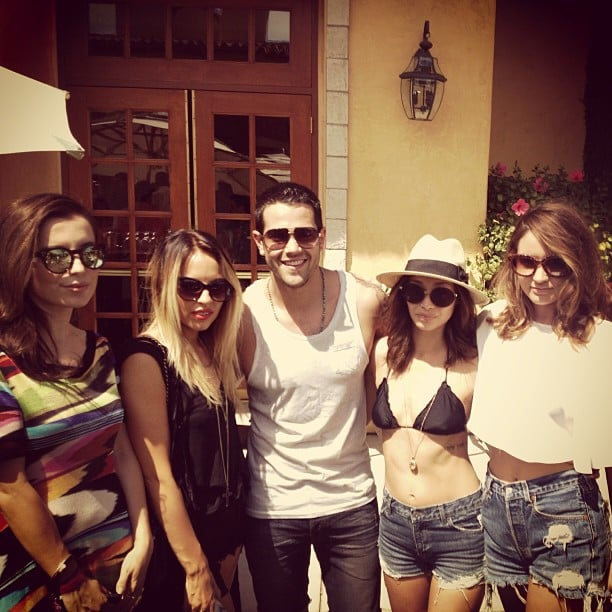 Jesse Metcalfe was surrounded by ladies, including his fiancée, Cara Santana.  Source: Instagram user realjessemetcalfe